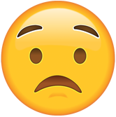 Worried emoji
