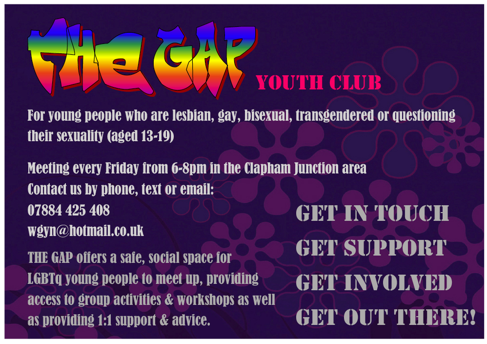 The Bridge is open to all LGBT young people between the ages of 14 -19yrs ...