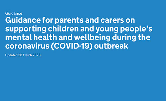 Guidance for parents and carers from the government