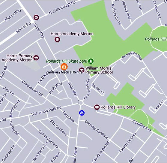 Wide Way Medical Centre location