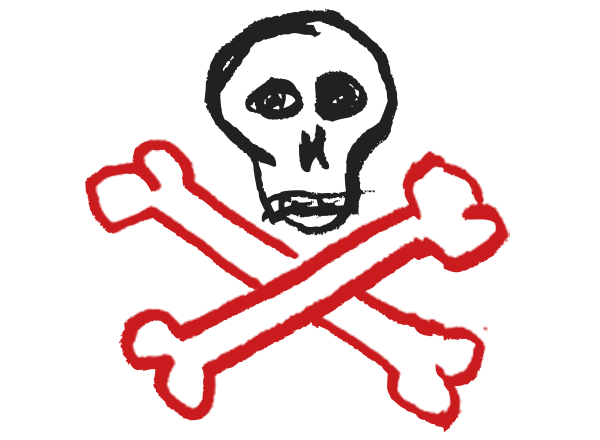 Skull and crossbones graphic