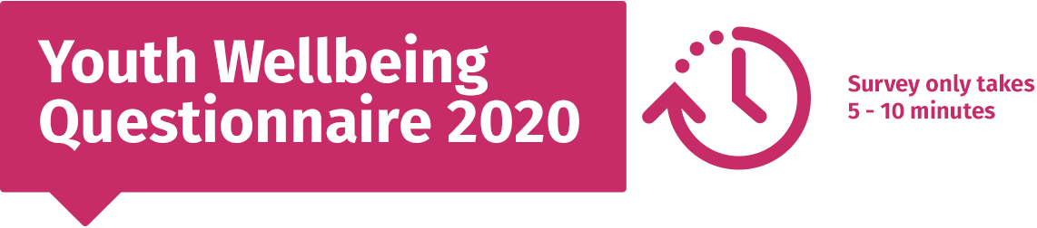Youth Wellbeing Questionnaire 2020. Survey only takes 5-10 minutes